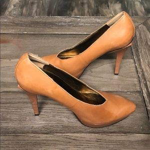 Audrey Brooke leather brown heels size 8.5